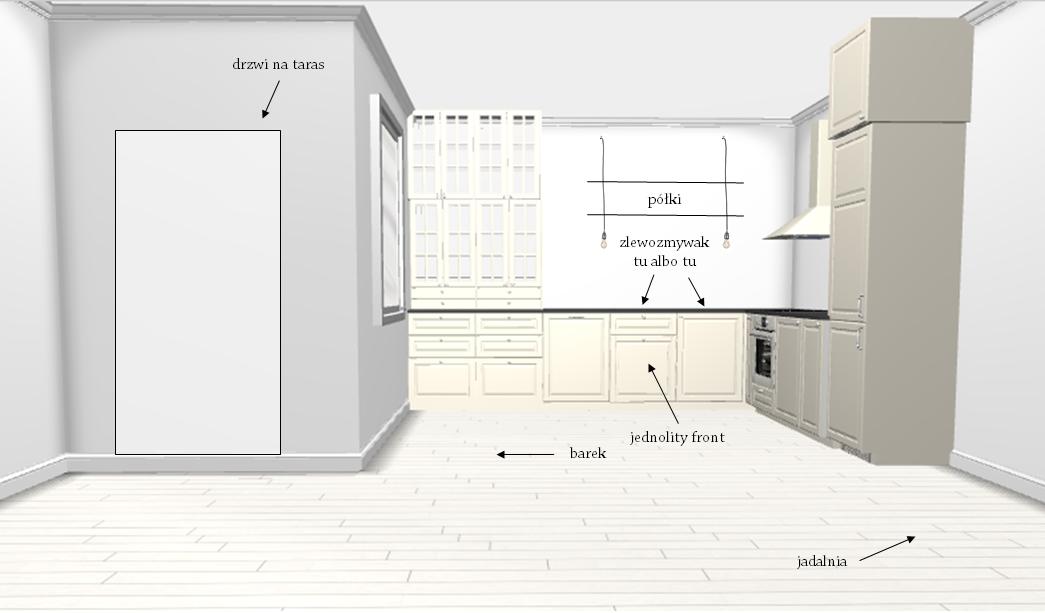 projekt nowej kuchni - pomysły, plany, wątpliwości - mrspolkadot