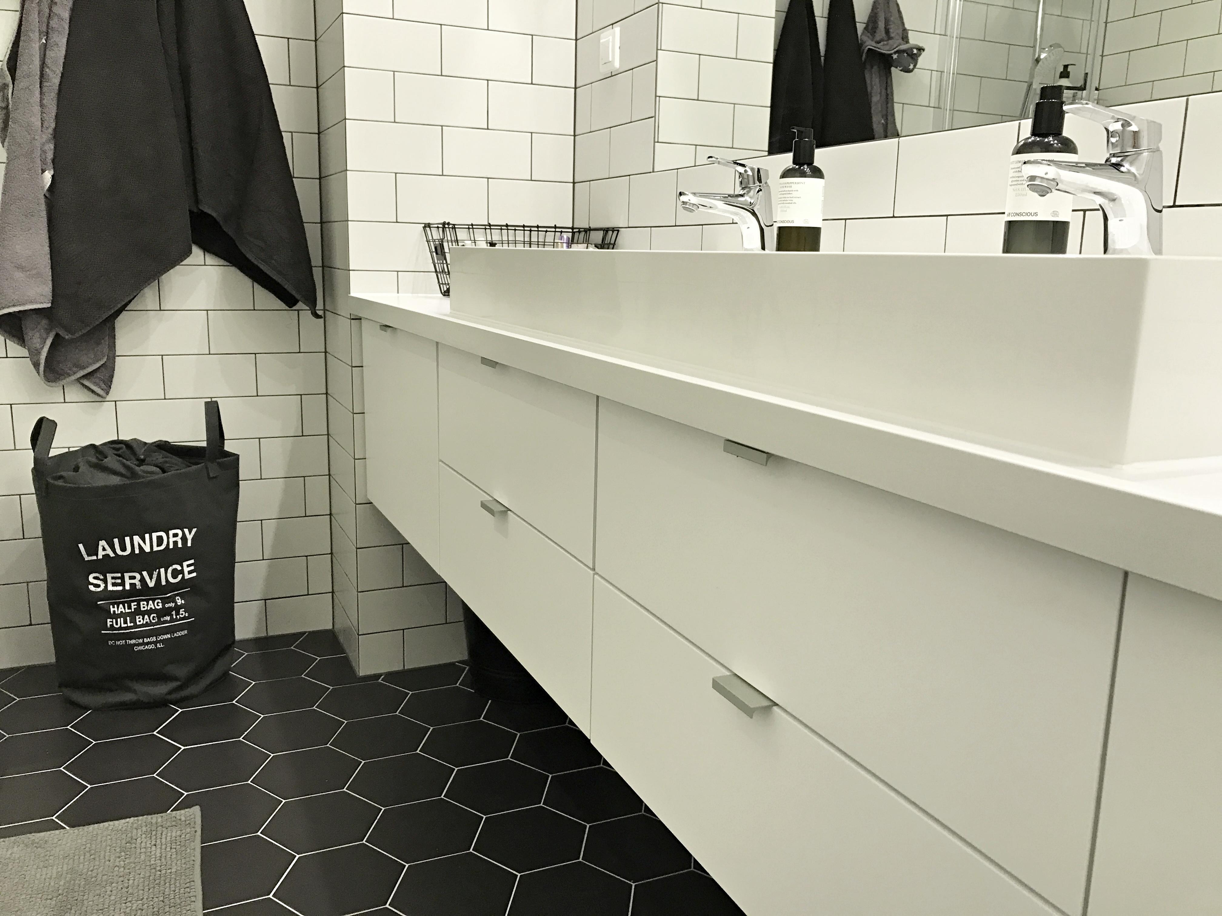 Czarno Biała łazienka Archives Mrspolkadot