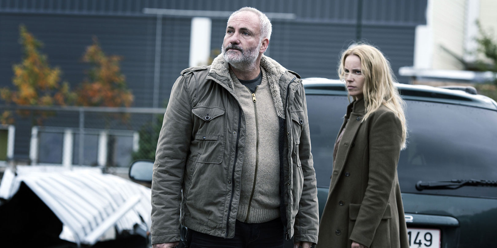 Programme Name: The Bridge - TX: 04/01/2014 - Episode: The Bridge - series 2 - ep 2 (No. 2) - Embargoed for publication until: n/a - Picture Shows:  Martin Rohde (KIM BODNIA), Saga Norén (SOFIA HELIN) - (C) ZDF - Photographer: Carolina Romare