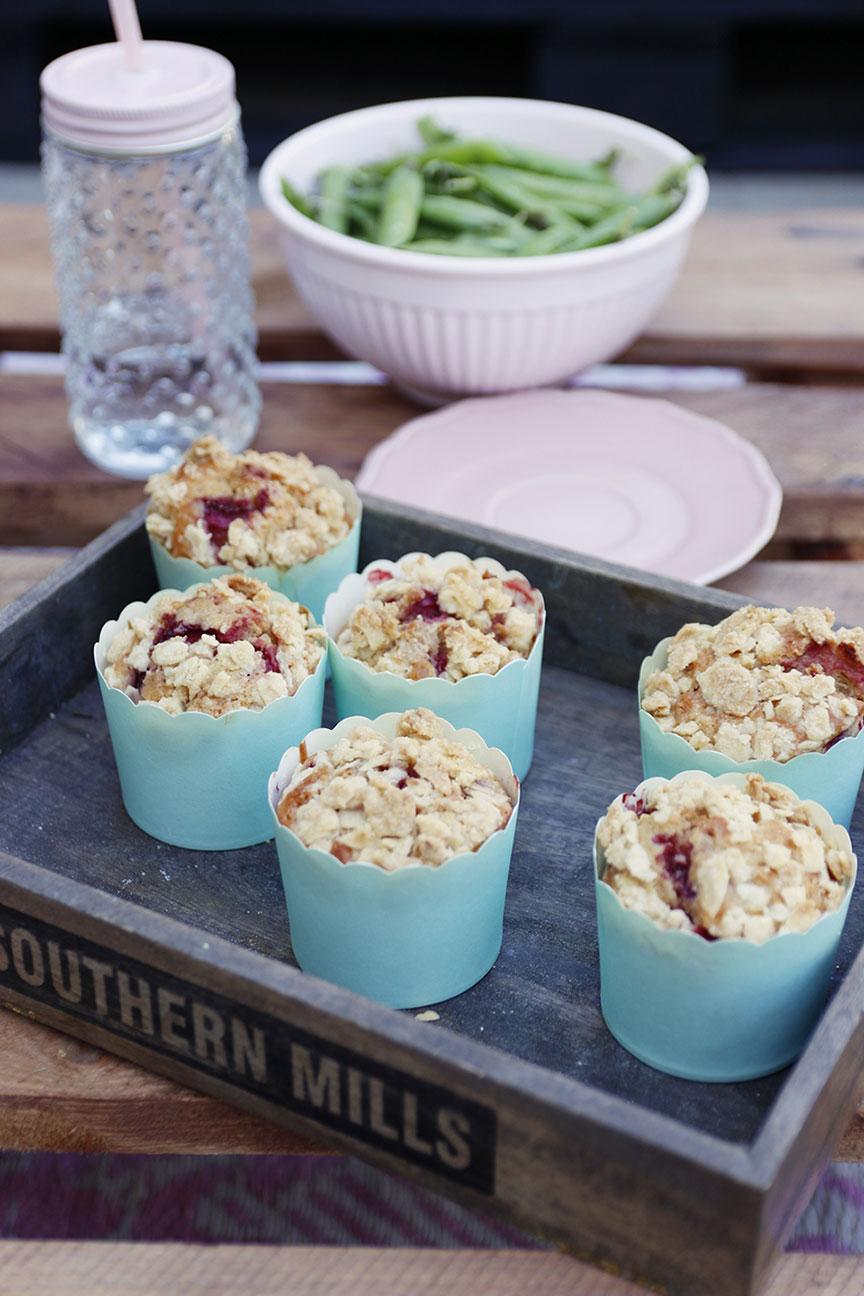 muffiny z owocam i kruszonką