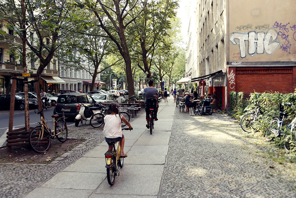 Kreuzberg na rowerach