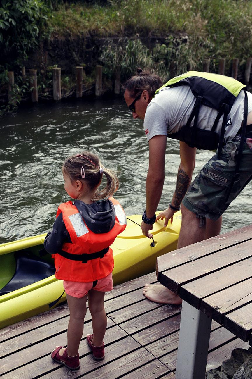 spływ z dziećmi
