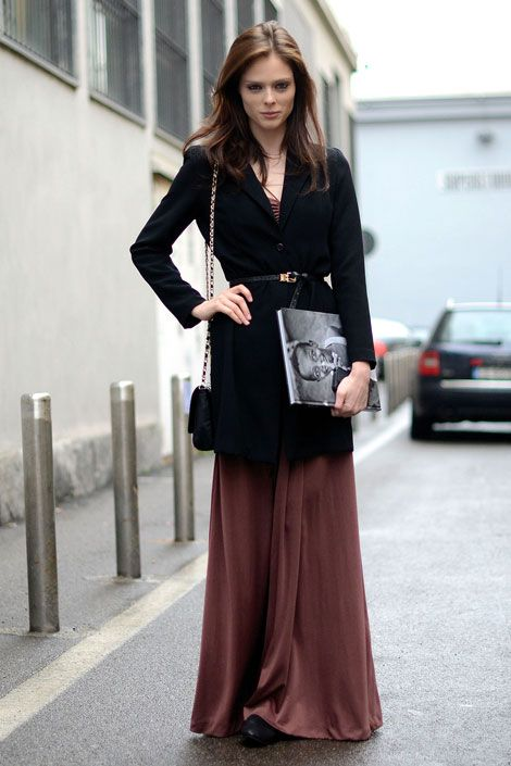 Coco-Rocha-long-skirt-winter