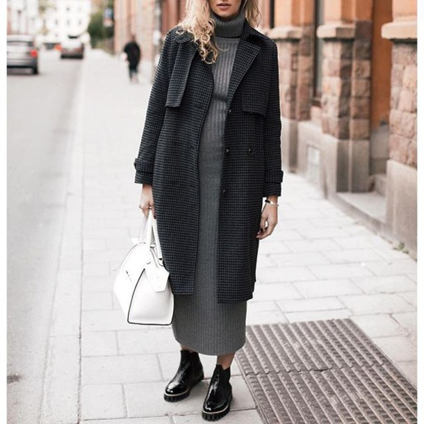 d10w4f-l-610x610-dress-tumblr-grey+dress-midi+dress-turtleneck-turtleneck+dress-fall+dress-knitted+dress-knitwear-coat-grey+coat-bag-white+bag-boots-black+boots-flat+boots-fall+outfits-winter+outfi