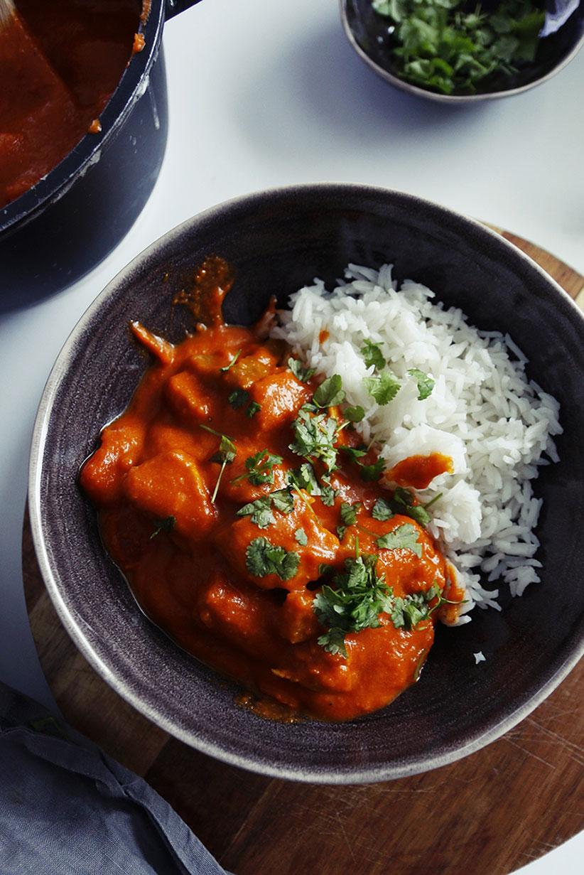 łagodne danie hinduskie