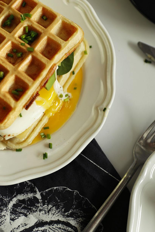 gofry z jajkiem