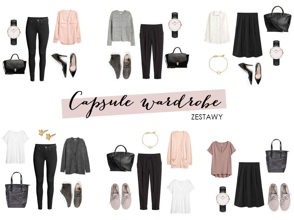 capsule wardrobe zestawy