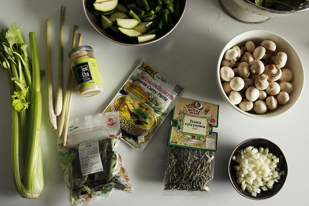 zielone curry składniki