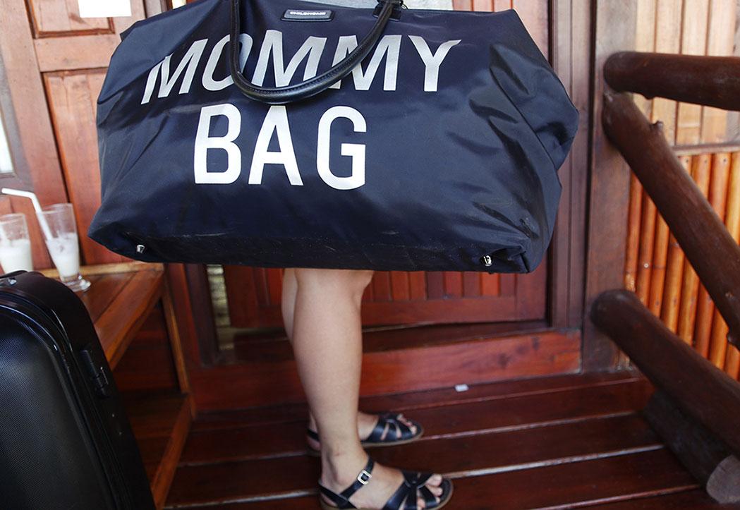 mommy bag czarna