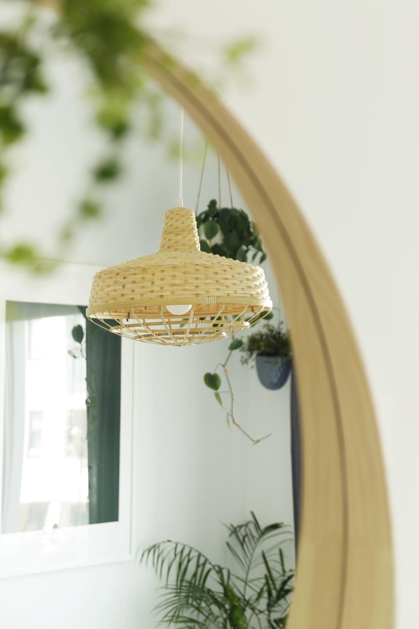 bambusowa lampa