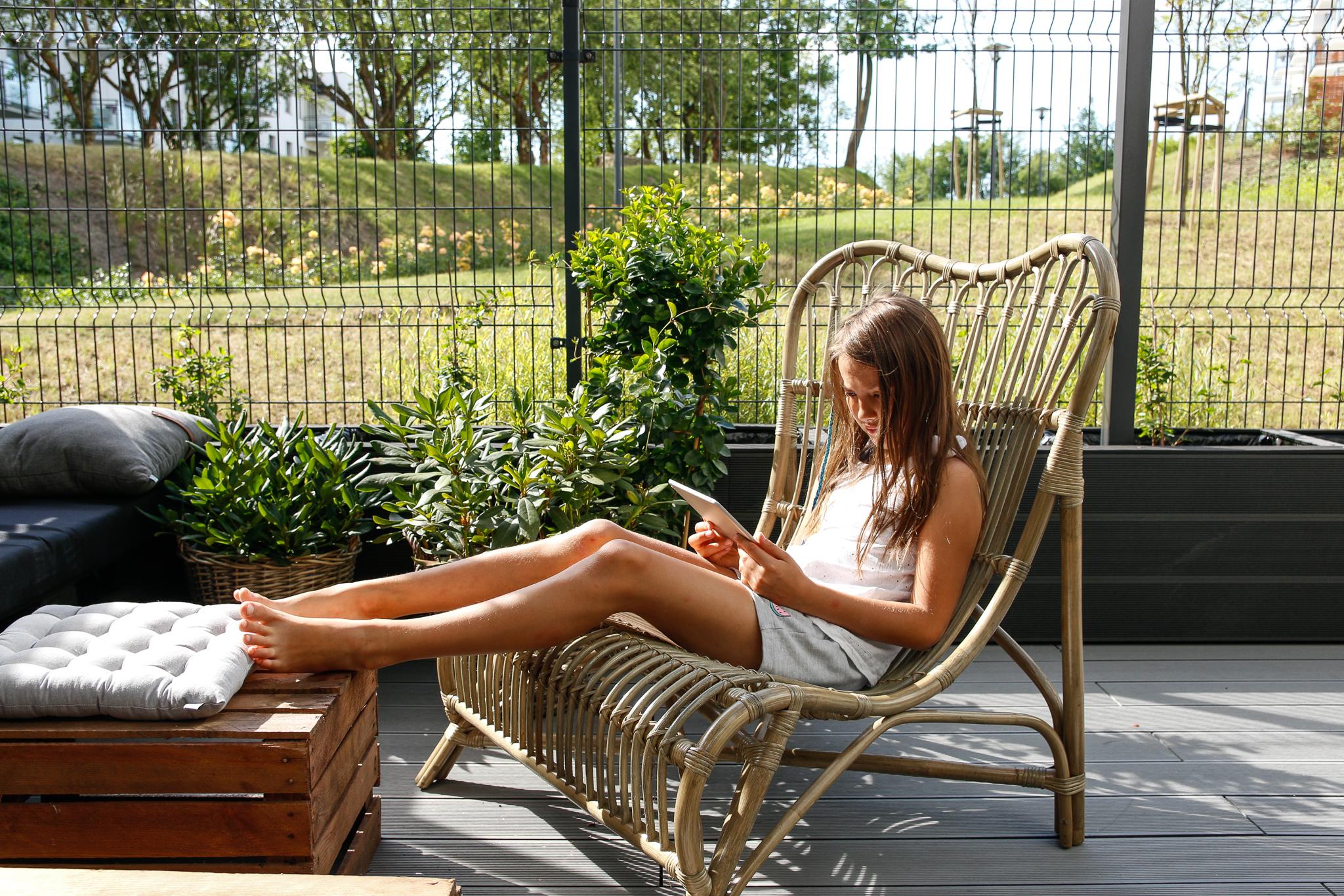 bambusowy fotel