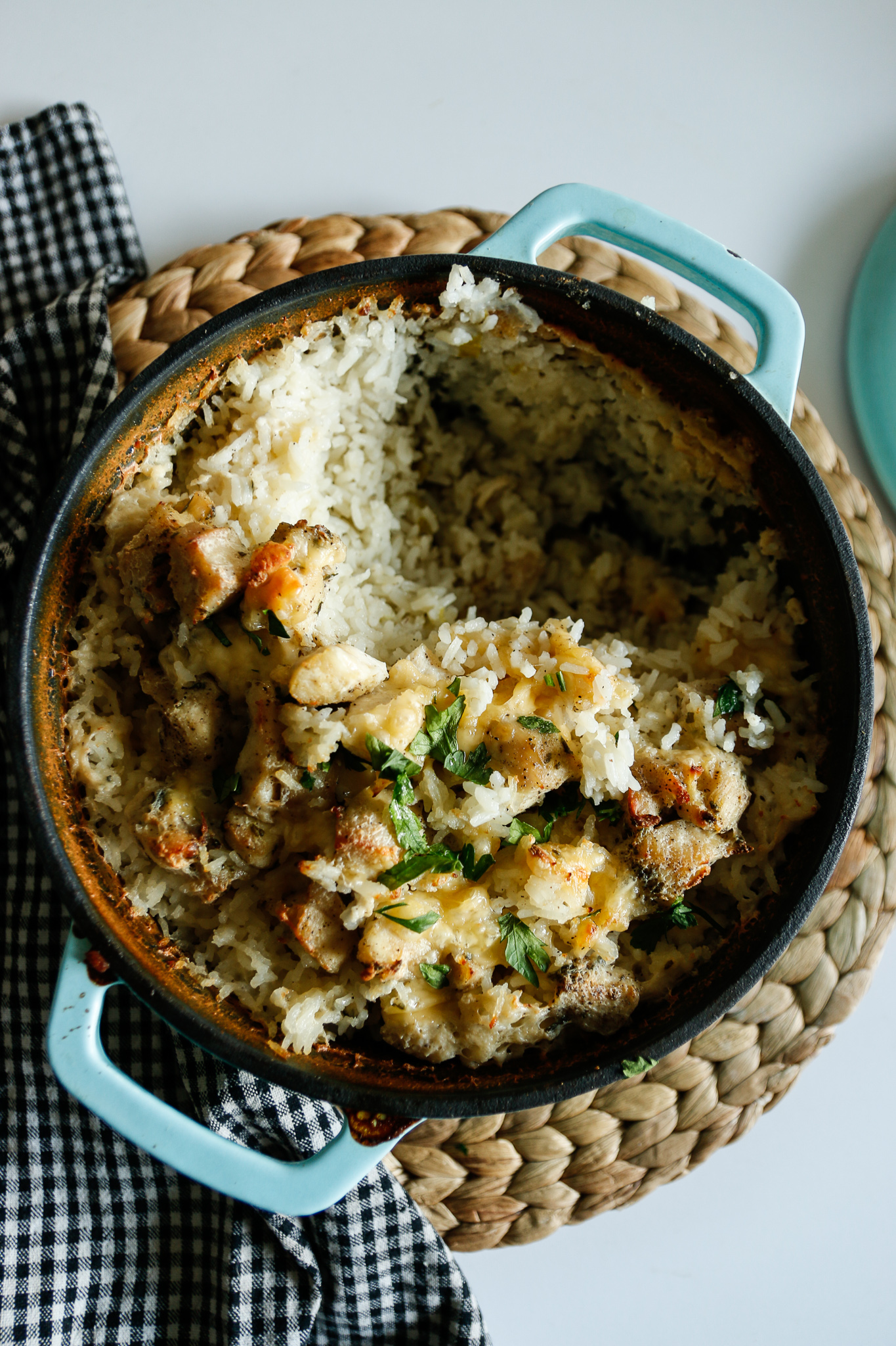 ryż zapiekany z kurczakiem