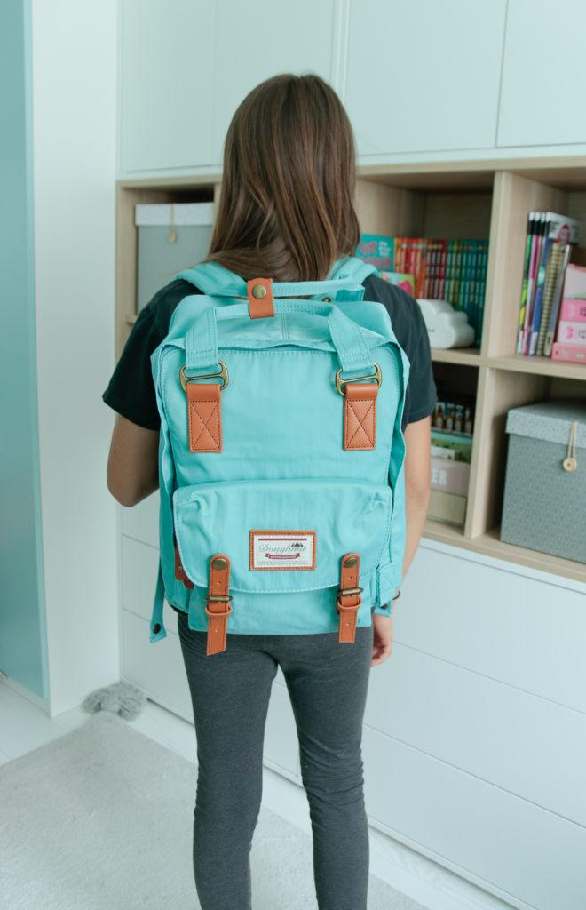 turkusowy plecak