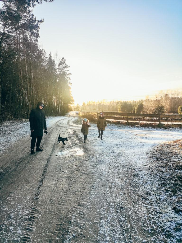 spacer z małym psem