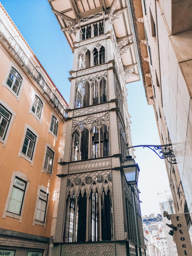 Lizbona elevator de santa justa