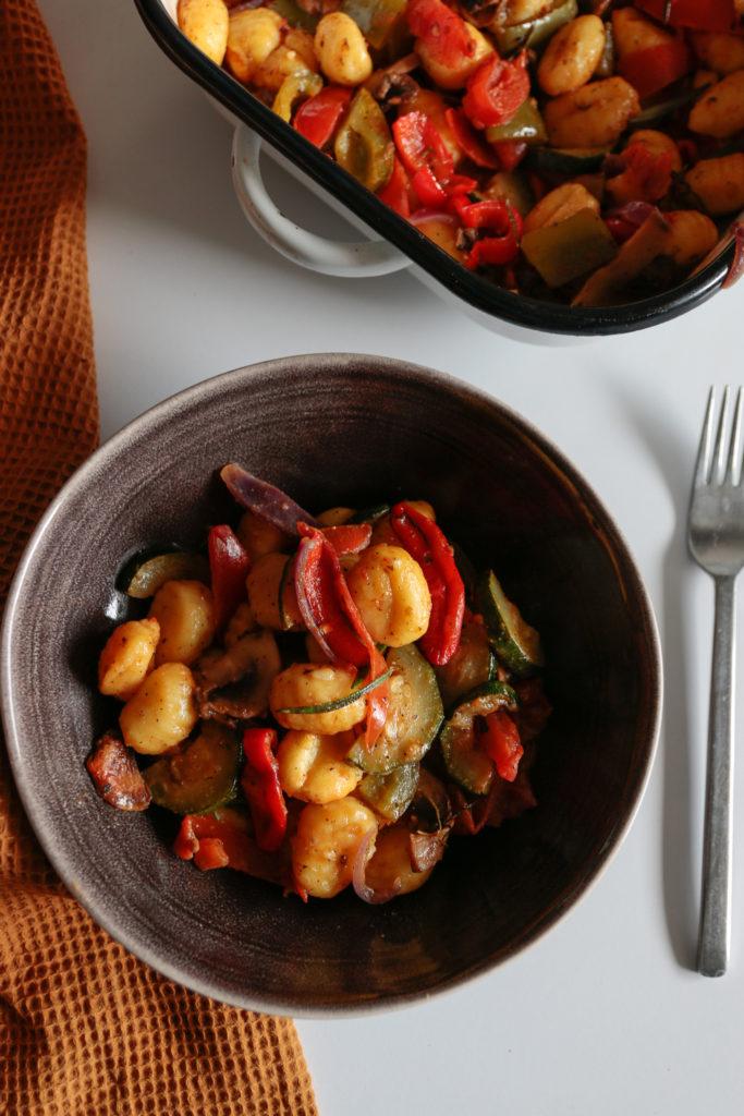 gnocchi z warzywami