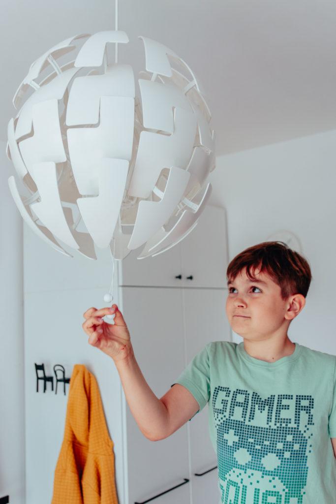 designerska lampa